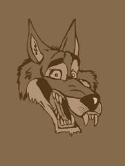 Vintage big bad wolf