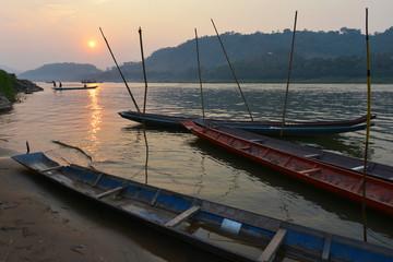 Puesta de sol en Luang Prabang, Laos