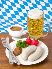 Weißwürste und Bier