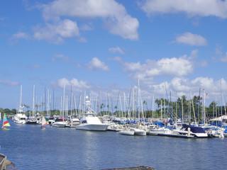 ハワイのヨットハーバー