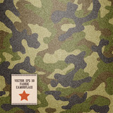 Fototapety camouflage realistic fabric vector