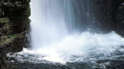 森の中の滝つぼ2