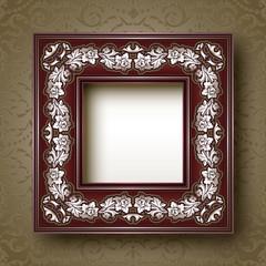 Vintage ornamental floral frame