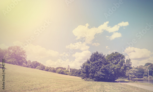 canvas print picture Vintage retro hipster style nature background.