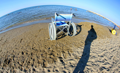 Special wheelchairs for disabled people with steel wheels