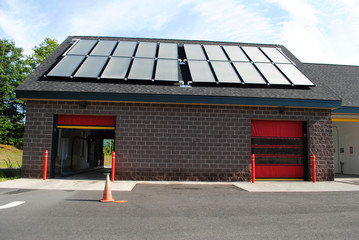 Solar Powered Car Wash Bays on a Summer Day