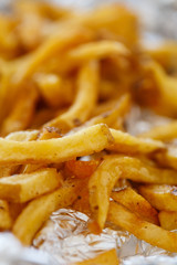 Delicious fries on the table