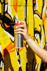 Girl with spray can