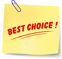 Vector best choice message
