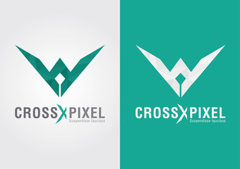 Cross Pixel. A modern style shape icon design and color.