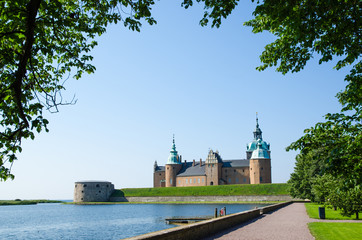 Medieval castle at Kalmar in Sweden