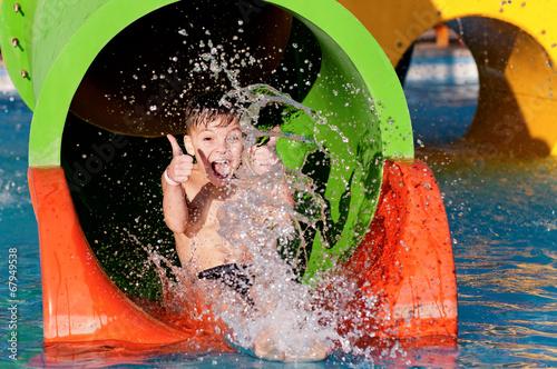 Boy at aqua park - 67949538