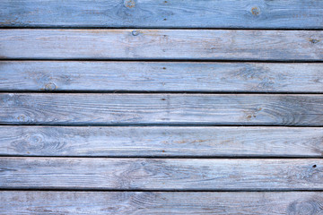 Old wooden blue painted boards background texture