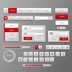 Интерфейс красный