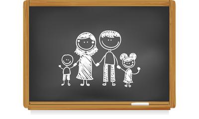 Tableau d'école : famille