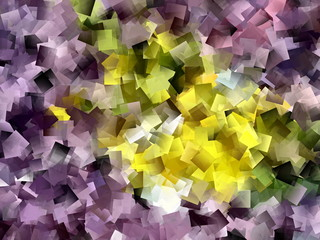 Abstract background with overlapping colourful squares