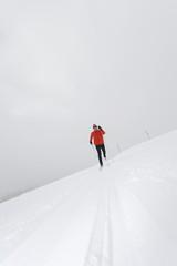 Italien,Südtirol,Mann Langlauf
