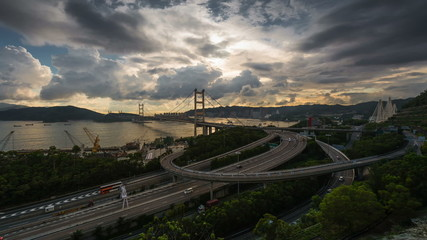 Tsing Ma bridge time lapse