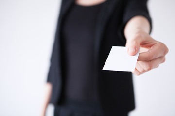 Business card and a gesture