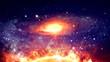 Colorful space nebula 2