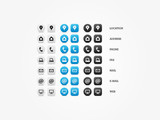 Multipurpose Business Card Icon Set poster