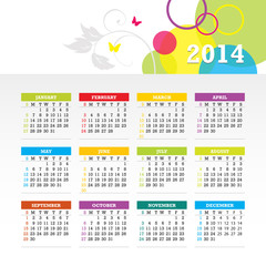 Colorful Bright Calendar