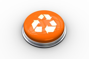 Composite image of recycling symbol graphic on button