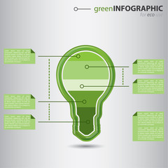 Green business info graphic concept