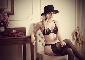 sensual woman lingerie vintage