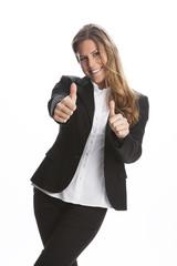 Positive Ausstrahlung einer Frau