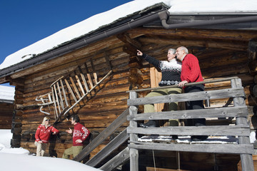 Italien,Südtirol,Seiseralm,Blockhütte,Paaren