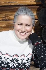 Italien,Südtirol,Seiseralm,Senior Frau