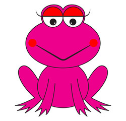 pink frog cartoon vector