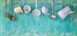 Leinwandbild Motiv vintage kitchen utensils, cooking concept, free copy space