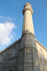 Minaret in Süleymaniye Mosque Istanbul, Turkey