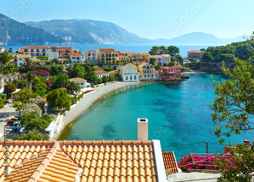 canvas print picture Summer view of Assos village (Greece,  Kefalonia).