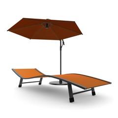 Zonnebaden onder parasol