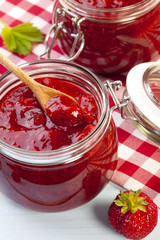 Home made strawberry jam.