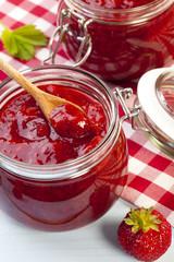 Home made strawberry jam.
