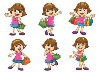 shopping  girl,