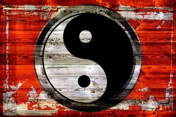 Yin & Yang - Holzschild