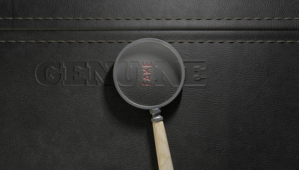 Fake Leather With Magnifying Glass