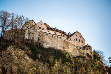Vaduz Castle on top of the mountain