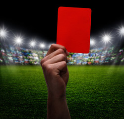Rote Karte im Stadion