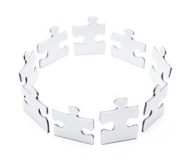 Puzzleteile im Kreis