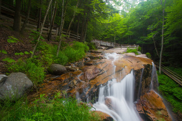Waterfalls in  White Mountains of New Hampshire