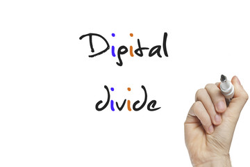Hand writing digital divide