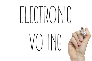 Hand writing electronic voting