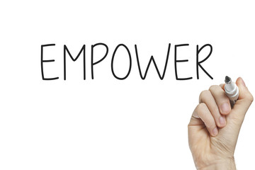 Hand writing empower
