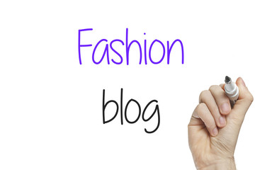 Hand writing fashion blog